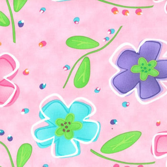 Amelia Plentiful Pink flowers fabric by Me and My Sister   22160 12