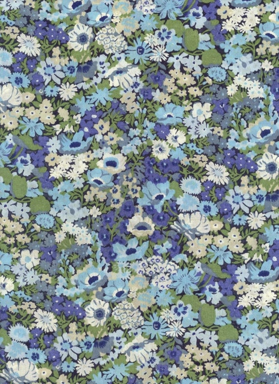 Liberty of London fabric tana lawn Thorpe in blue 6x27