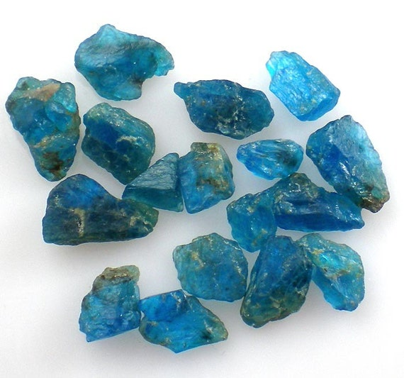 Neon Blue Apatite Raw Crystal Gemstones