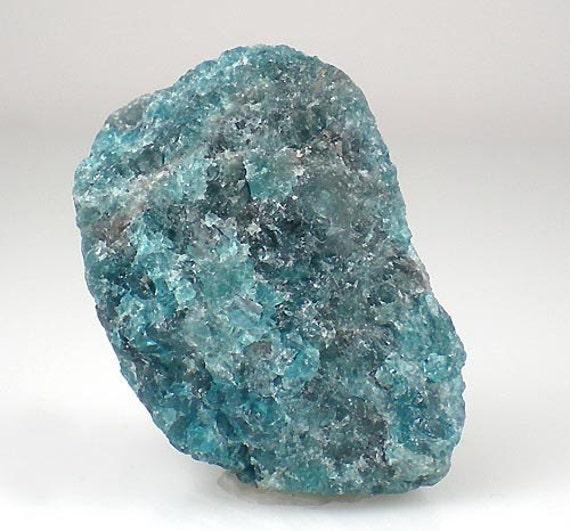 SALE Neon Blue Apatite Rough Crystal Gemstone