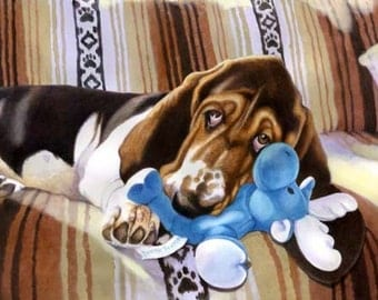 Basset Hound Limited Edition Large Print Giclee Great Gift for Basset Lovers