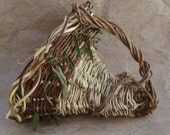 RESERVED for Joyce Basket Vine Cornucopia Rustic Handmade Wedding or Holiday Decor Eco Friendly