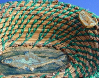 Pine Needle Fish Basket