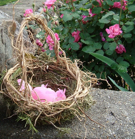 Reserved for Jenae Ready To Ship Rosemary for Remembrance Rustic Flower Girl Wicker Basket   Ivy