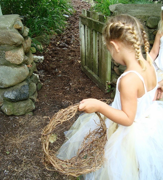 Rustic Freeform Natural Twig Basket for your Eco-Conscious Woodland Wedding Wild