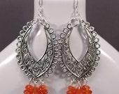 Carnelian Chandelier Earrings (E593)