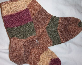 children' s hand knitted socks,  knitted socks , handmade children' socks