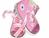 SWAROVSKI baby BLING CONVERSE Pink Diamond Princess Shoes