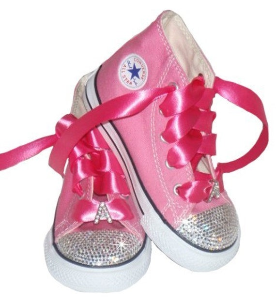 Special Order dtmj4 SwAROVSKI BAbY BLInG PErSONALIZED INItIAL RHINESTONE CONVERSE SHOE