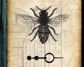 Divine Design II- Graphic Original -  Bee Architectural Print