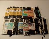 Collection Of 17 Vintage Black Rick Rack Trims