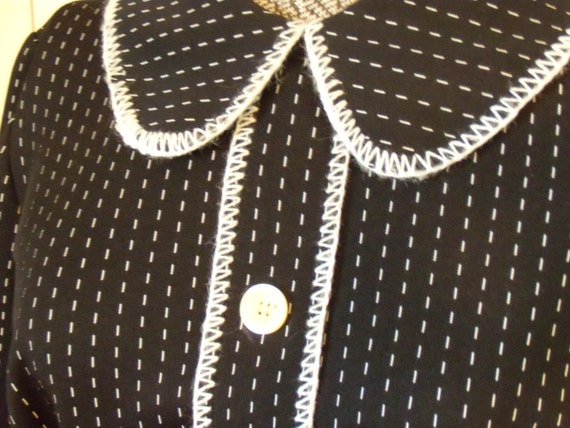 Vintage Mr. Jack of Dallas Black and White 1960's Dress Size 14-16