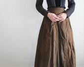 reserved ......... Antique 1900s Edwardian Sharkskin Cotton Prairie Pioneer Skirt