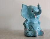 Vintage Blue Elephant Figurine