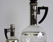 Vintage Coffee Carafe . Set of Two . Big and Mini