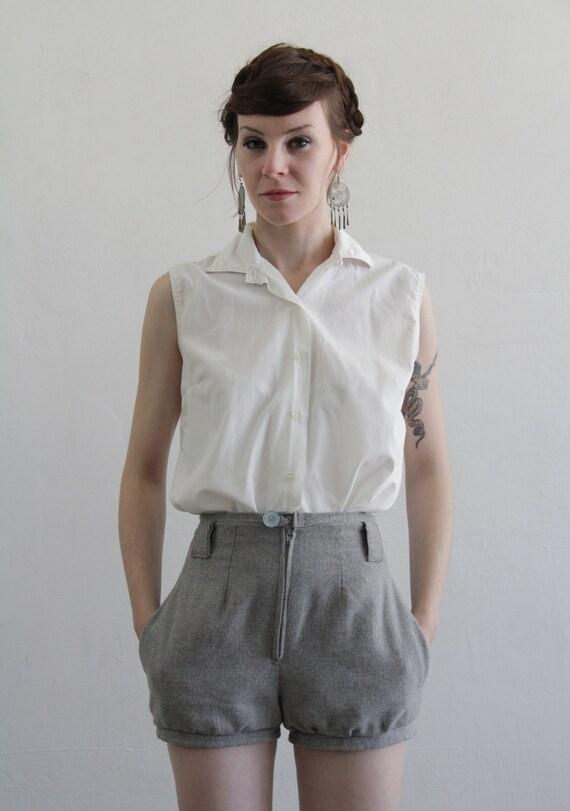 Vintage Tank Top .  Blouse . Cotton Shirt . 1970s Summer Wear