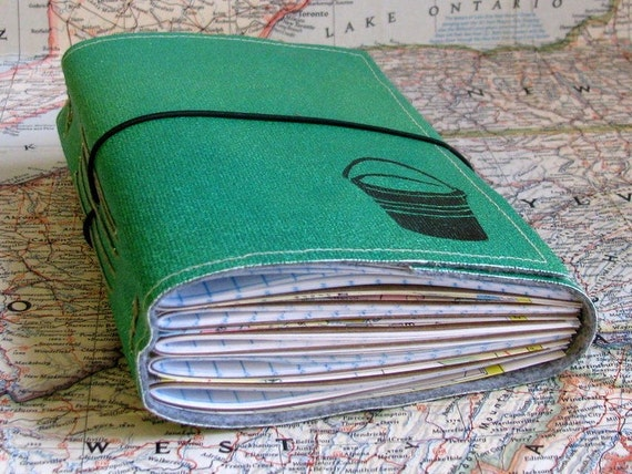 bucket list journal with maps