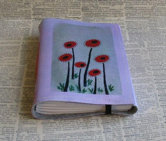 poppy fields tri fold Journal