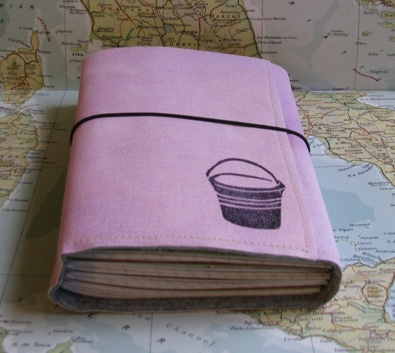 bucket list journal with maps as travel journal