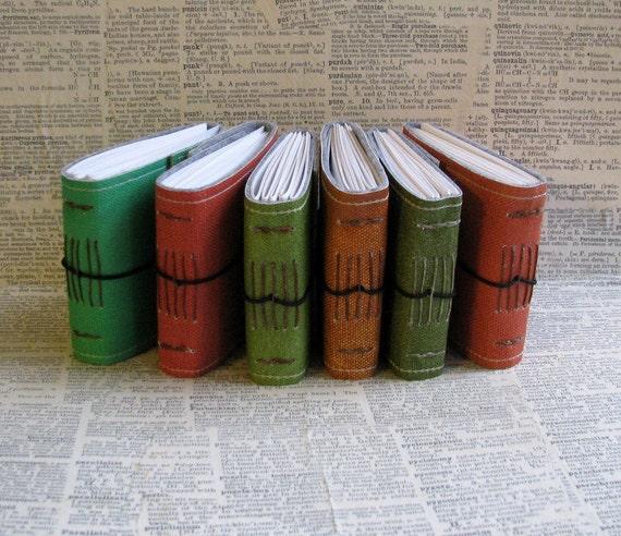 6 blank little pocket journals by bluetoad journals of tremundo