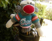 Sock Monkey Golf Club Cover - Miami Dolphins or Your Team
