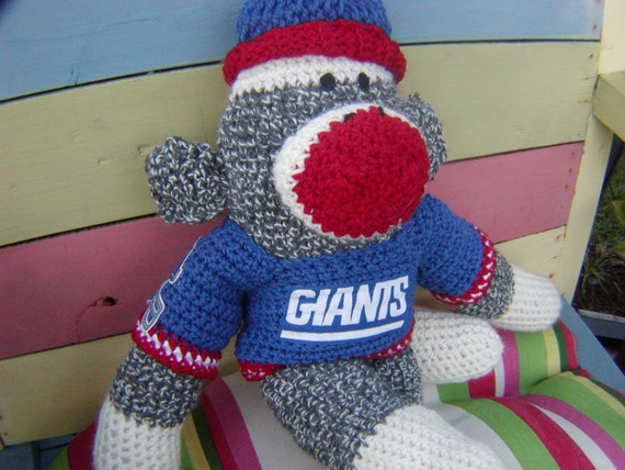 Sock Monkey -  2012 Super Bowl Champs  New York Giants  or Your Team