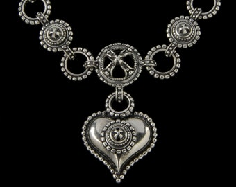 Chili Heart Necklace, B.C. Silver Collection        6109S