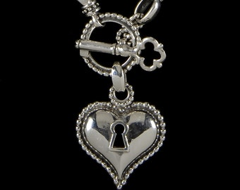 Key to My Heart Necklace, B.C. Siver Collection                 6150S