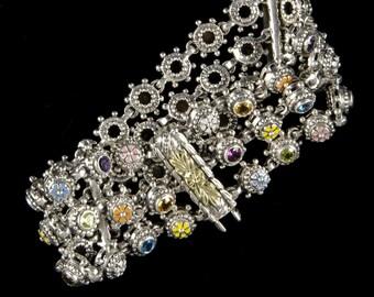 Three Row Bracelet, Wildflower Collection        8202SGMXXXXM