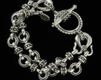Two Row Toggle Bracelet, B.C. Silver Collection     6200S