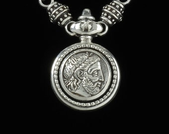 Philip of Macedonia Necklace, B.C. Silver Collection      6108S