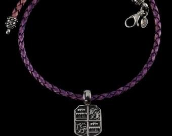 Lion and Castle Shield Necklace, B.C. Silver Collection       6167SXZ