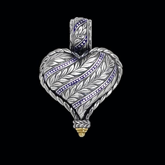 Heart Pendant, Engraved Collection, 2403SGXXXXXC