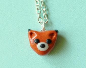 Fox Animal Charm Miniature Necklace