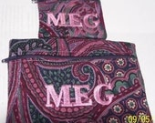Personalized Change Purse and Makeup Bag Set