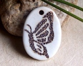 Butterfly Porcelain Pendant
