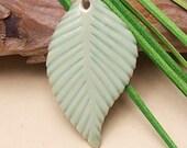 Ceramic Leaf Pendant