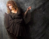 Vintage Stunning Tiered Flapper Style Dress. Ethereal Witchy Fairy Girl