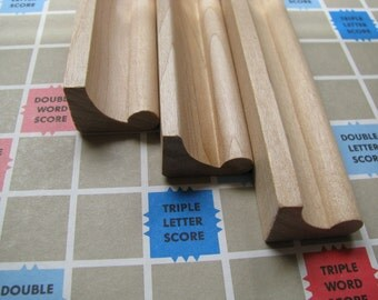 Vintage Wooden Scrabble Tile Holders. Set of 3