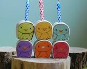Wooden Star House Rainbow Tweet Birthday Candle Holders