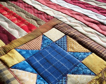 AMERICAN FLAG, 17 X 13 quilted wallhanging