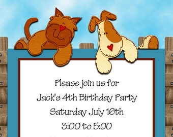 Over the Fence Party or Shower Invitation