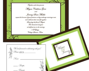 Wedding Invitations-Layers of  Swirls