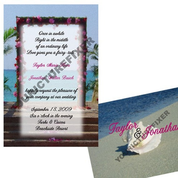Wedding Invitations - Beach or Destination