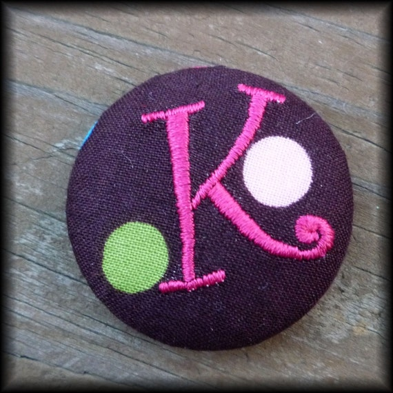 Monogrammed Covered Buttons