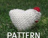 Chicken Knitting Pattern, (PDF), Digital Download