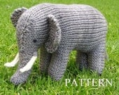 Elephant Knitting Pattern, PDF