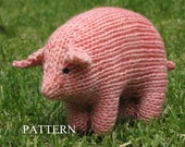 Pig Knitting Pattern, Waldorf, Toy, PDF (Medium Size)