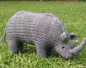 Thulani the Rhino, Knitted Toy, Save the Rhino