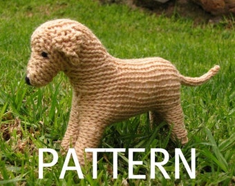 Labrador Dog Toy Knitting Pattern (PDF)